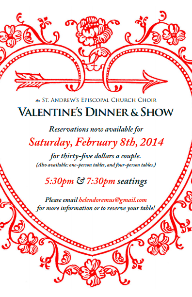 The Saint Andrew's Church Choir (Fort Worth) Valentine's Dinner & Show