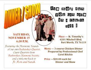Dinner show flyer I  10-26-14