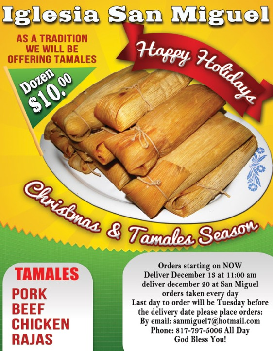 Iglesia San Miguel is selling tamales