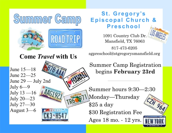 Summer Camp at St. Gregory's