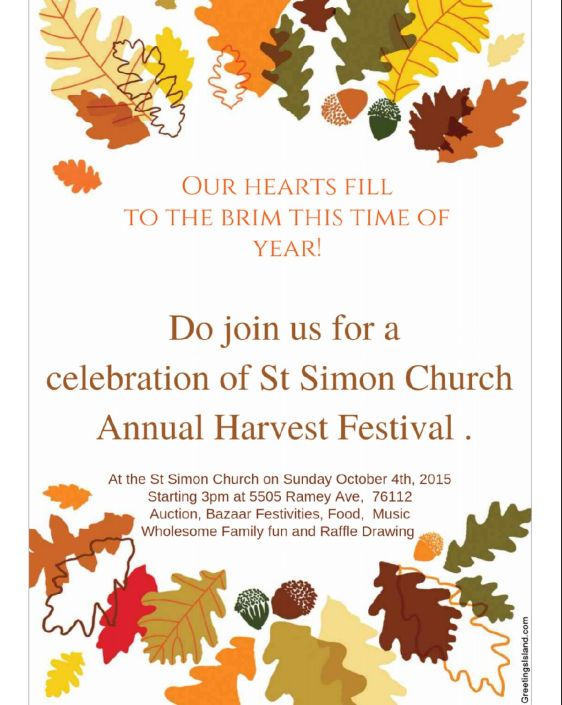 St. Simon's Church, Oct. 4 at 3 p.m.