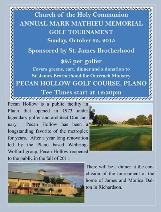 Golf tournament on Oct. 25
