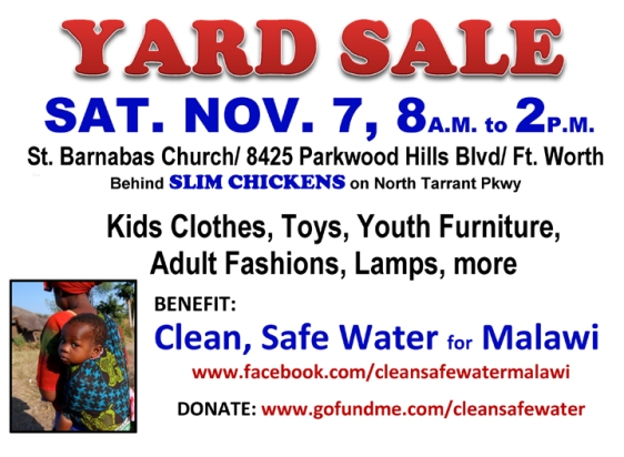 Yard Sale on Sat., Nov. 7