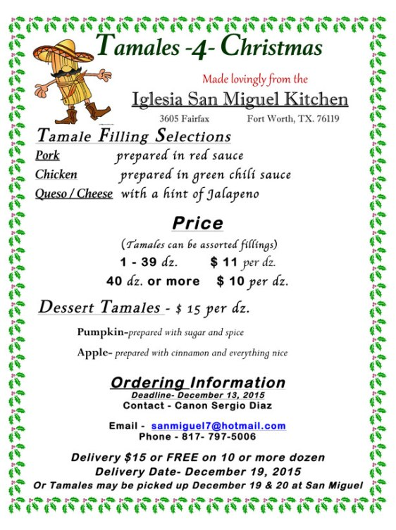 Order tamales from Iglesia San Miguel