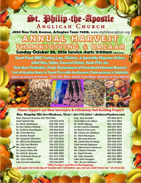 Annual Harvest Celebration